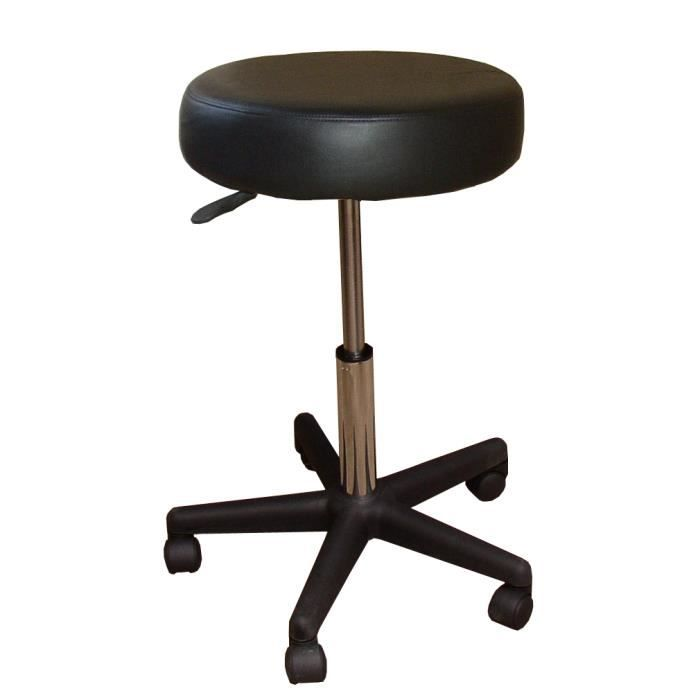 tabouret gk noir a roulettes hauteur r glable achat vente tabouret inox cdiscount. Black Bedroom Furniture Sets. Home Design Ideas