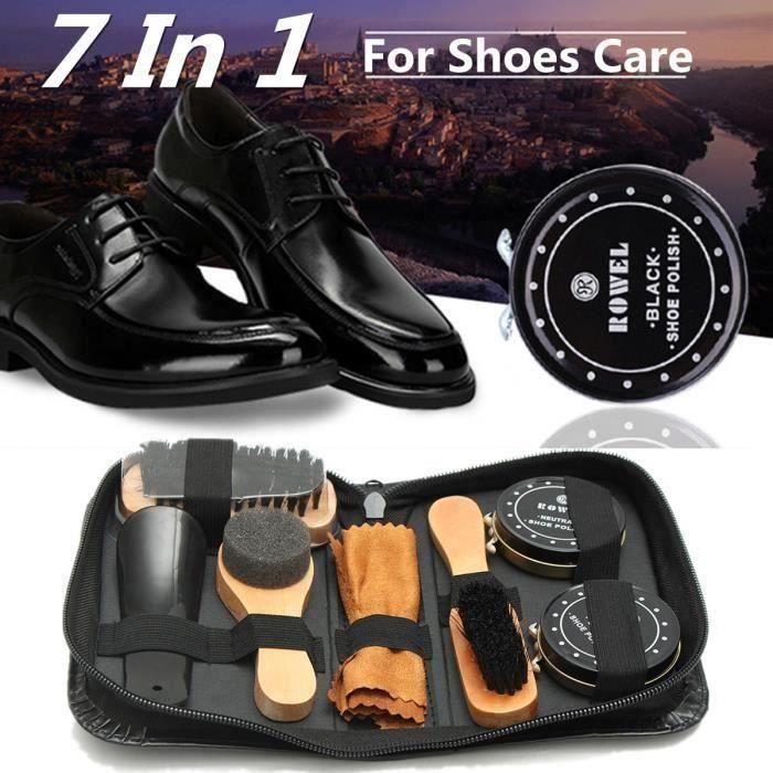 Baoblaze Kit de Nettoyage Chaussure avec Cirage pour Nettoyeur Entretien Soin de Bottes en Daim Su/ède Nubuck Chaussure en Cuir comme d/écrit Vert