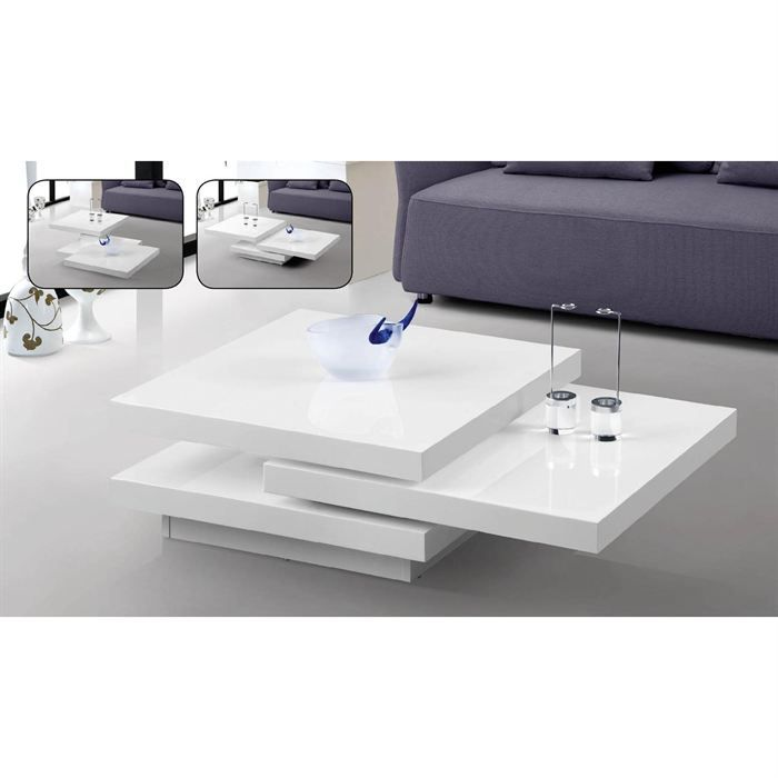 mobilier table table laqu e blanc. Black Bedroom Furniture Sets. Home Design Ideas