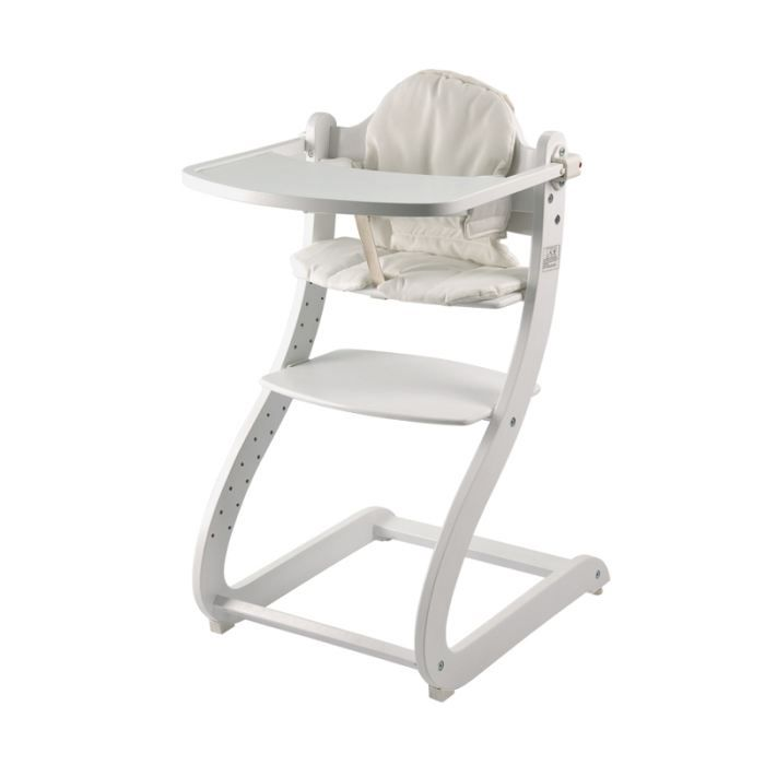 First baby safety chaise haute en bois caya blanche bois for Chaise haute safety 1st baby relax