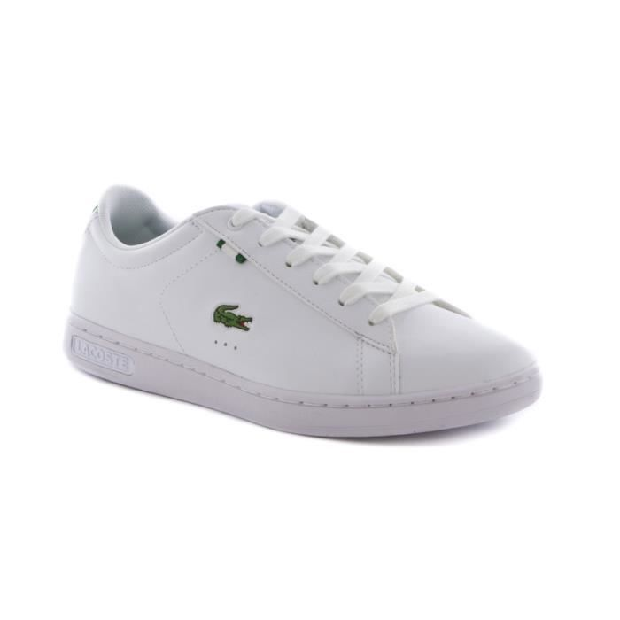 chaussure lacoste carnaby junior en cuir blanc achat vente basket cdiscount. Black Bedroom Furniture Sets. Home Design Ideas