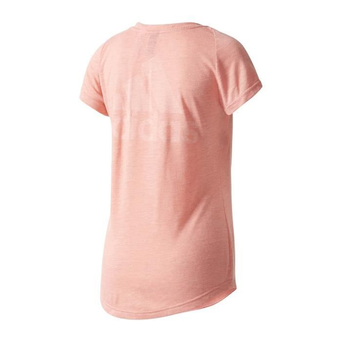 100e01d65e5dd Adidas Performance T-shirt Winners Rose T-shirts Manches Courtes Femme  Multisports
