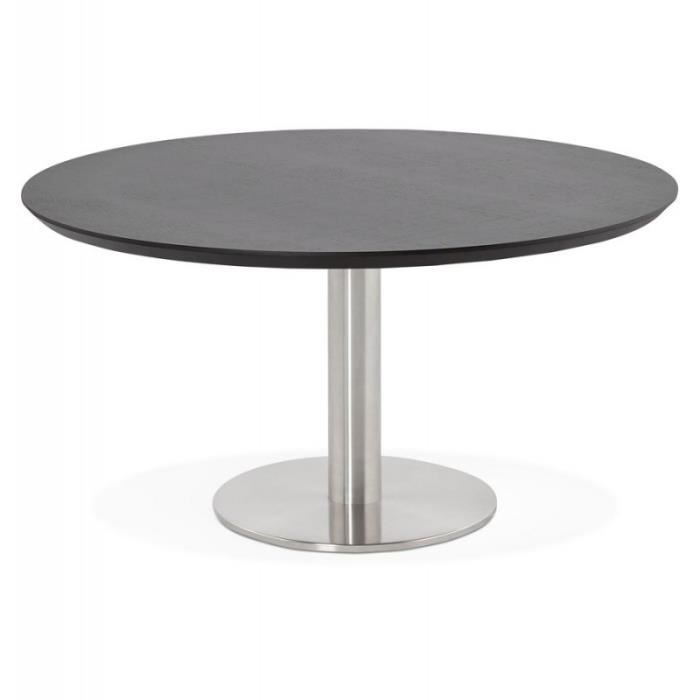 Tables Basses Table Basse Design Ilma 90cm Noir Paris Prix