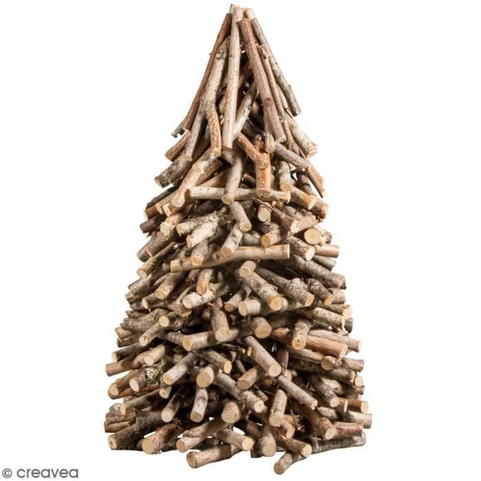 Sapin De Noël En Bois Naturel 25 X 40 Cm