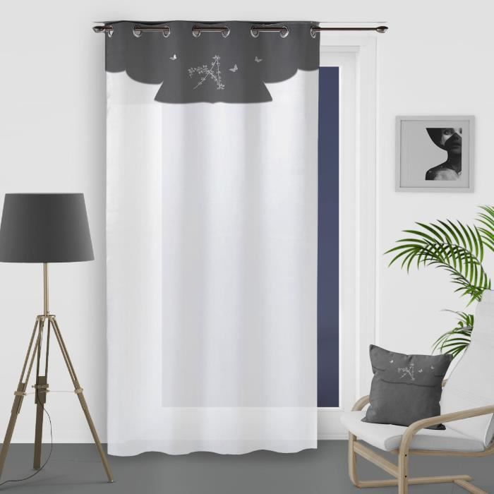 Gemma Filet Rideau Avec Motif Floral Festonné Design-vendu au mètre