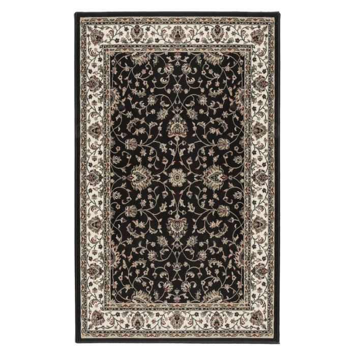 luxus tapis de salon oriental noir 200x290 cm achat vente tapis polypropyl ne cdiscount. Black Bedroom Furniture Sets. Home Design Ideas
