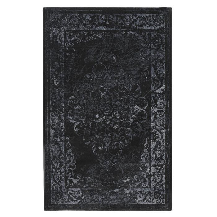 luxus tapis de salon vintage noir 200x290 cm achat vente tapis 100 polypropyl ne cdiscount. Black Bedroom Furniture Sets. Home Design Ideas