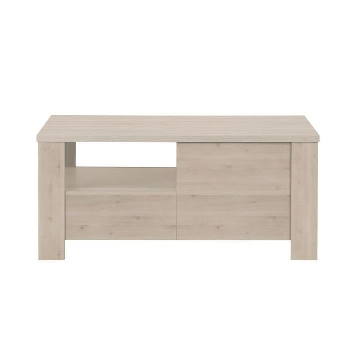 Sha pin table basse 2 tiroirs coloris bois blanchi for Table basse bois blanchi