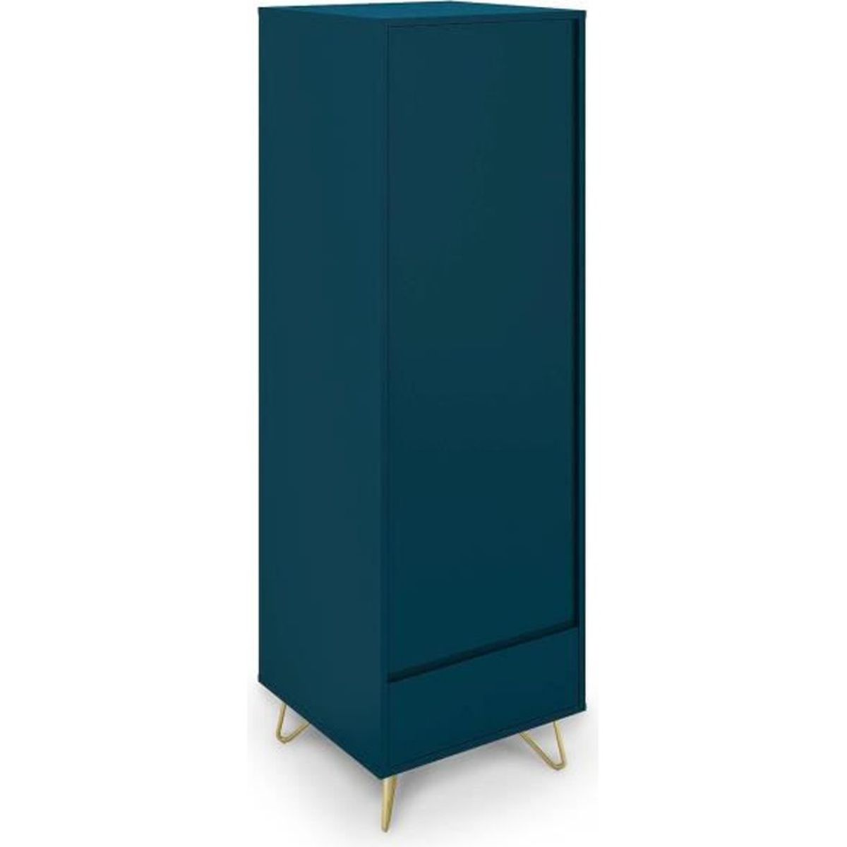 Armoire Dressing Chambre Adulte armoire penderie 1 porte 1 tiroir bleu canard darina - achat