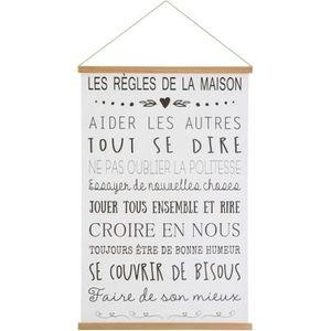 Tableau Les Regles De La Maison Achat Vente Pas Cher