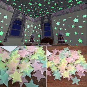 STICKERS 100PC Enfants Chambre phosphorescents sombre étoil