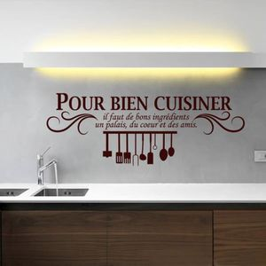 Stickers muraux cuisine achat vente stickers muraux for Ustensiles pour cuisiner