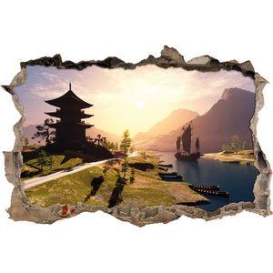 STICKERS impressionnant temple asiatique sur la rivière per