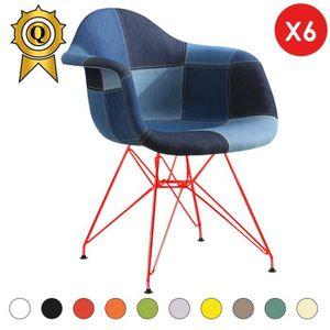 FAUTEUIL 6 x Fauteuil Style Eames DAR Eiffel Design Pieds A