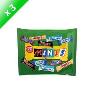 CONFISERIE DE CHOCOLAT MARS Lot de 3 Minis Mix Chocolats au lait fourrés