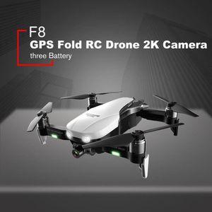 DRONE Caméra 1080P F8 GPS pliable Wifi RC Drone 2K + bat