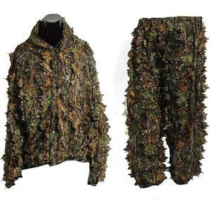 VÊTEMENT DE CAMOUFLAGE Feuille Ghillie Suit Camouflage Chasse Vêtements