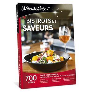 Wonderbox - Idée cadeau noel - Bistrots et saveurs - 700 repas en  brasseries de caractère