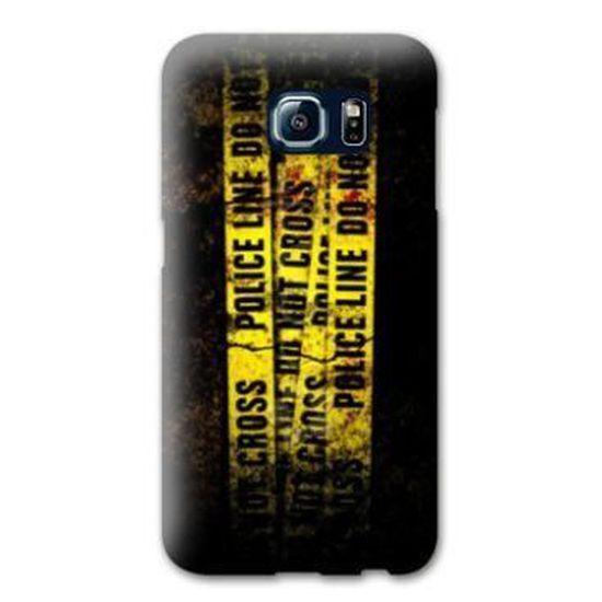 Coque Samsung Galaxy S6 pompier police - - line -