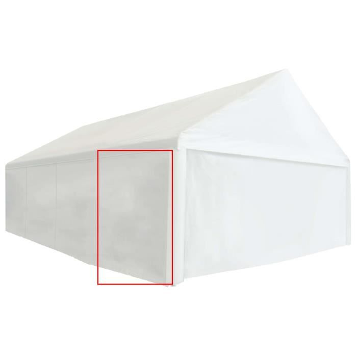 Mode Panneau latéral de tente de réception PVC 2x2 m Blanc 550 g-m²-MEN