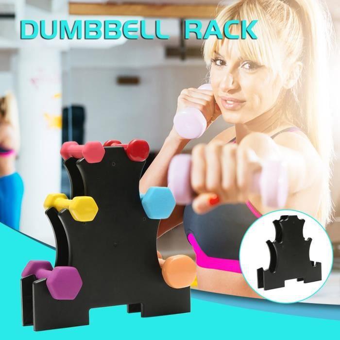 Outils Ménagers Kit Meuble Haltère Rack Stand 3 niveaux haltères Hand Weights Sets détient 30 livres SSB200414106B_yang