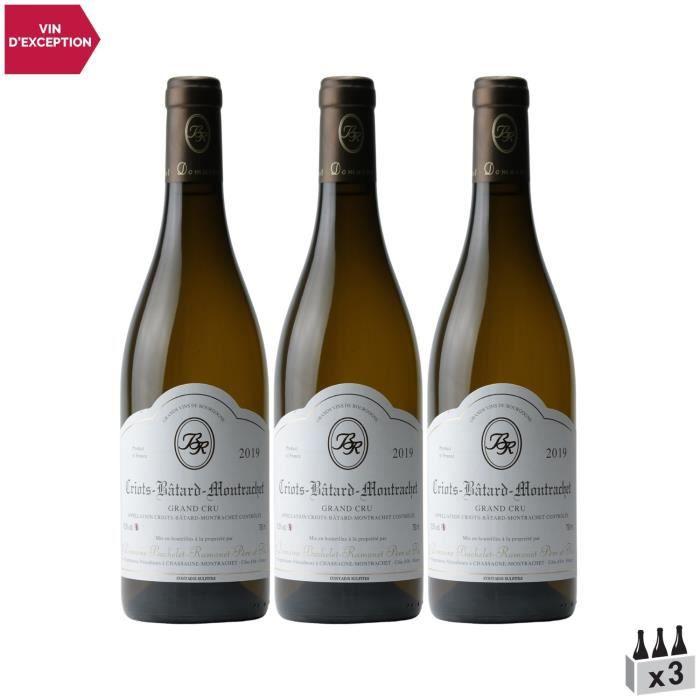 Criots-Bâtard-Montrachet Blanc 2019 - Lot de 3x75cl - Domaine Bachelet-Ramonet - Vin AOC Blanc de Bourgogne - Cépage Chardonnay