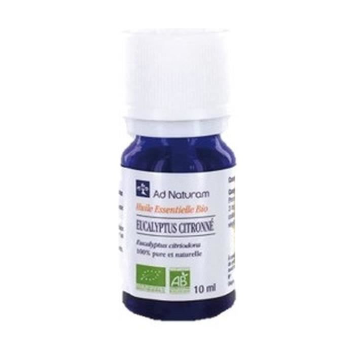 AD naturam+Huile essentielle de eucalyptus citronne 10 ml de huile essentielle