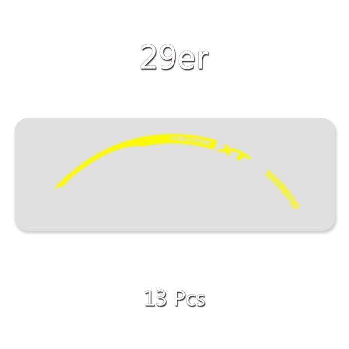 Autocollant de jante-vélo SHIMANO XT M785-VTT autocollant de roue-26er.27.5er.29er applique l - Modèle: 29er Yellow - UOZXCTZA01773