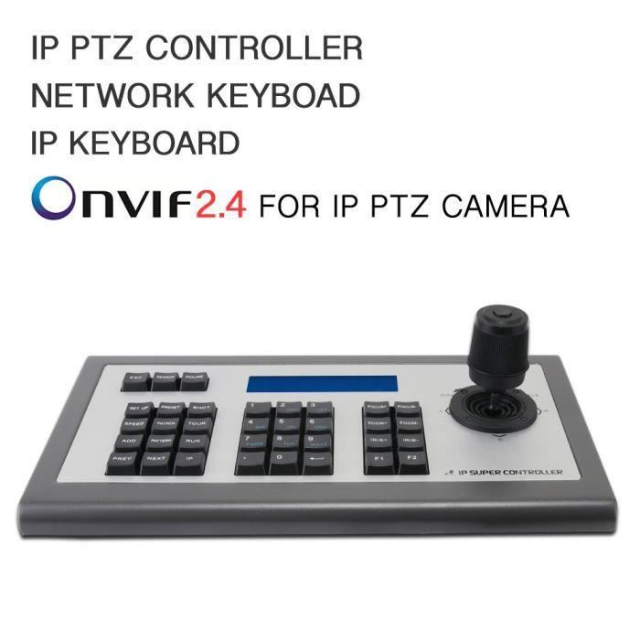 LEFTEK 4D IP PTZ contrôleur avec écran LCD moniteur protocole Onvif Compatible avec Sony - Hikvision - Dahua - TVT - Uniview, etc
