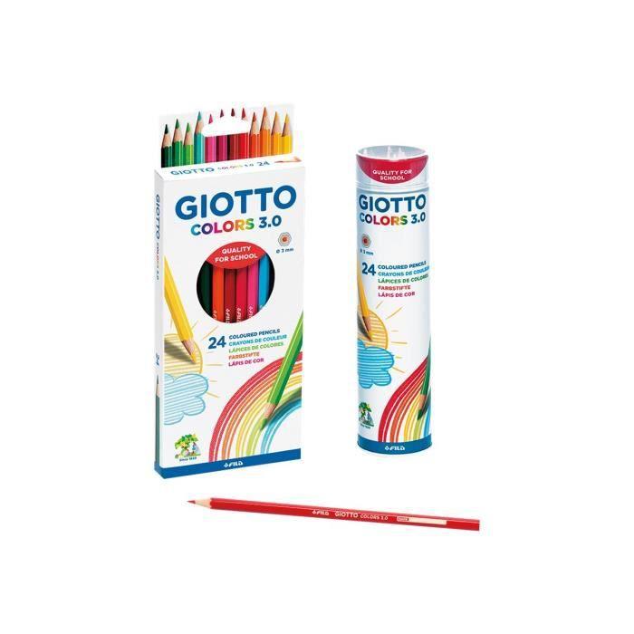 GIOTTO Colors 3.0 Crayon de couleur couleurs assorties 3 mm pack de 24