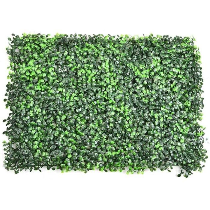 artificielle lierre 2 PCS Panneaux De Haie De Buis Artificiel, Plantes Vert Emulational Feuille De Lierre En Plastique &Eacutec123