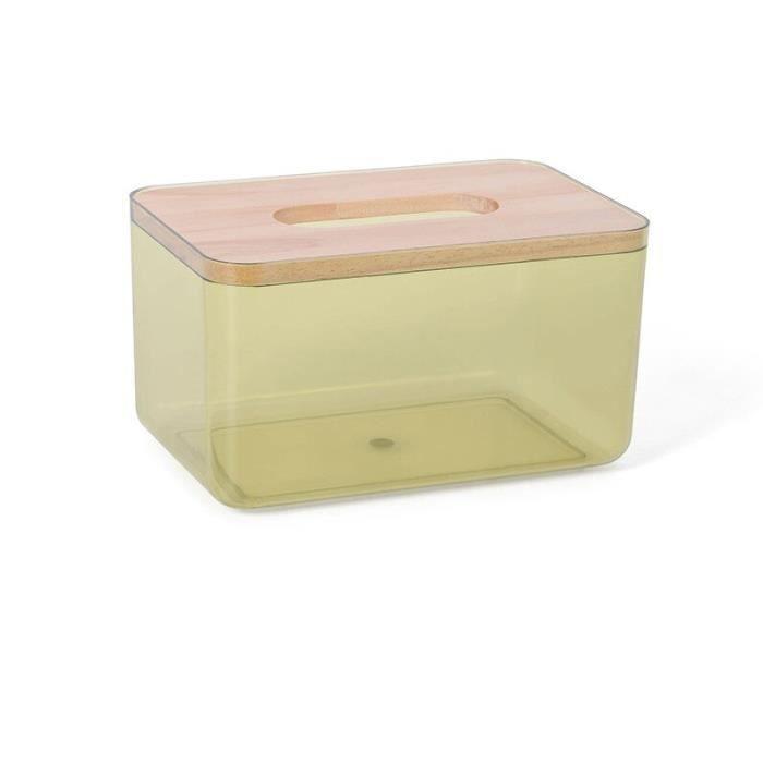 Boîtes de mouchoirs,Boîte à mouchoirs créative nordique, boîte à mouchoirs transparente, salon domestique, boîte de - Type Yellow-S
