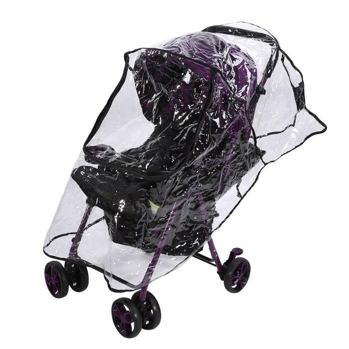 Zerodis Housse de pluie pour landau 1PC PVC universel étanche bébé poussette housse de pluie poussière vent bouclier landau