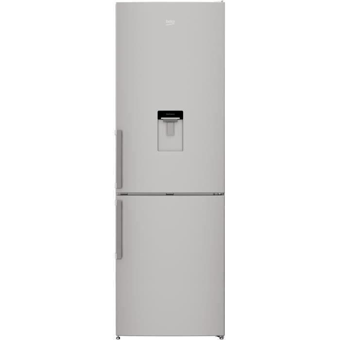 BEKO - CRCSA295K31DSN - Réfrigérateur congélateur bas - 295 L (205+90) - Froid brassé - MinFrost - Gris acier