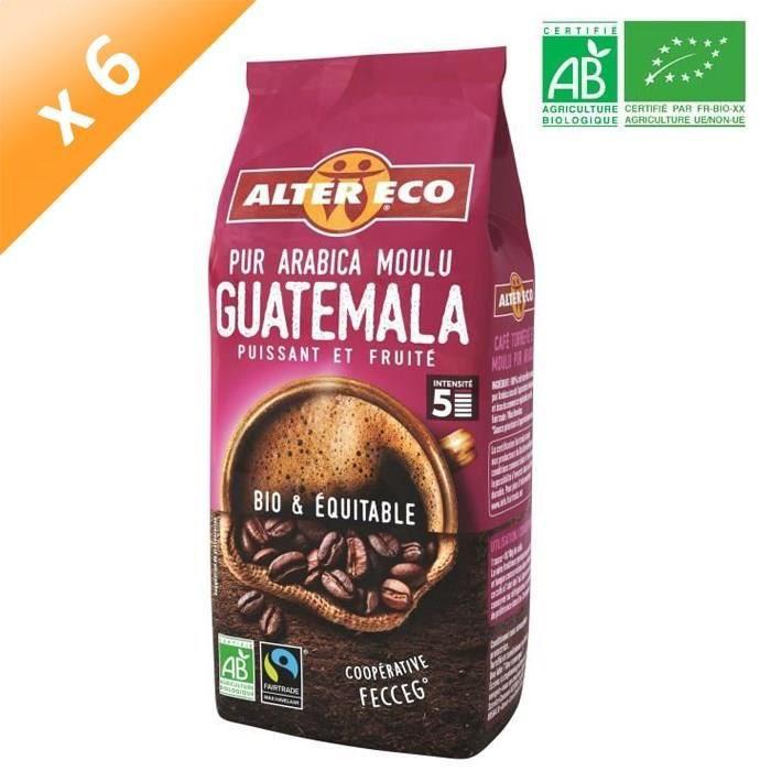 [LOT DE 6] ALTER ECO Café Guatemala - 100% Arabica - Bio - 260 g