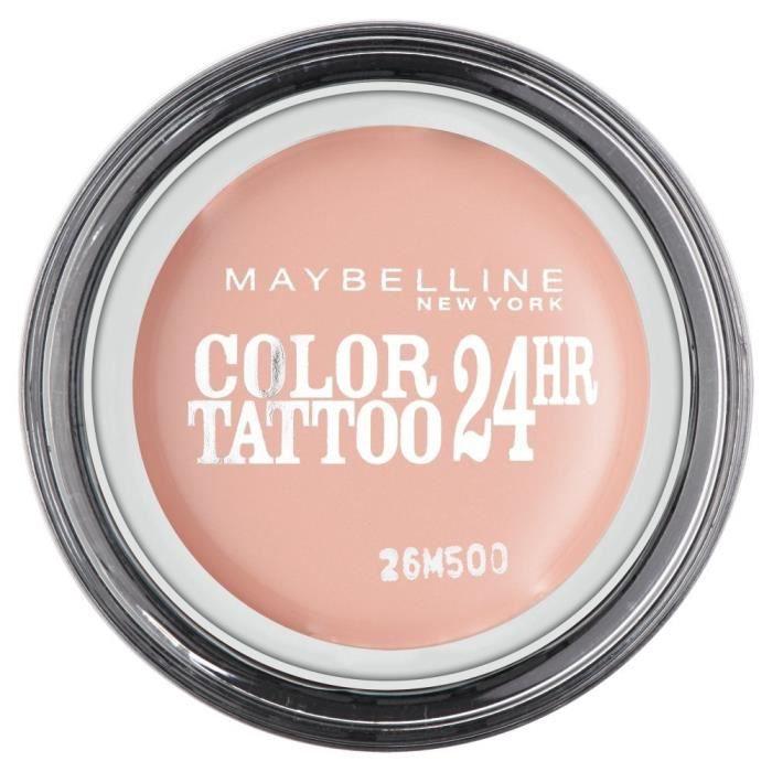 GEMEY MAYBELLINE Color Tattoo Ombre à Paupières Rose 91 Crème de Rose
