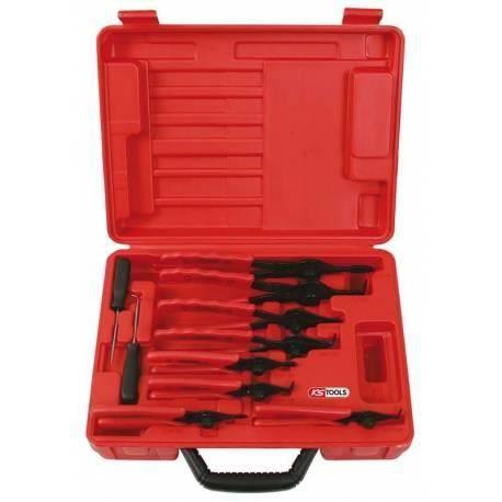 Coffret de pinces à circlips intérieur et extérieur, 10 pièces KS Tools 500.1320