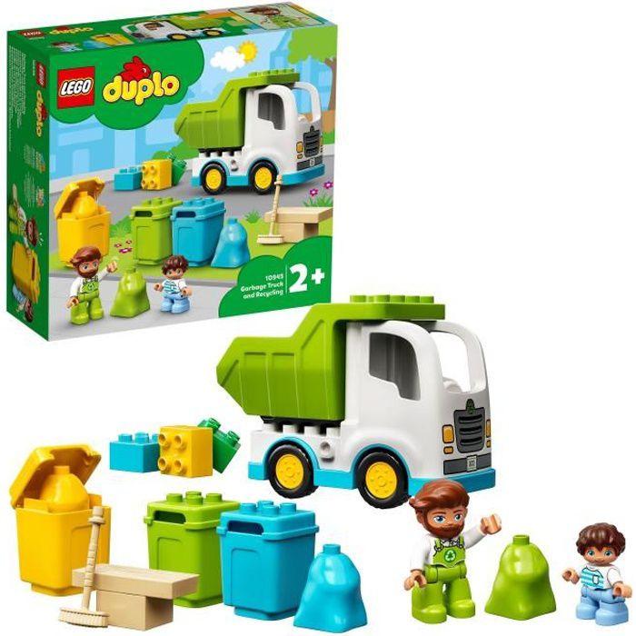 LEGO® 10945 DUPLO® Le camion poubelle et le tri sélectif jeu de construction éducatif pour enfant 2 ans et plus