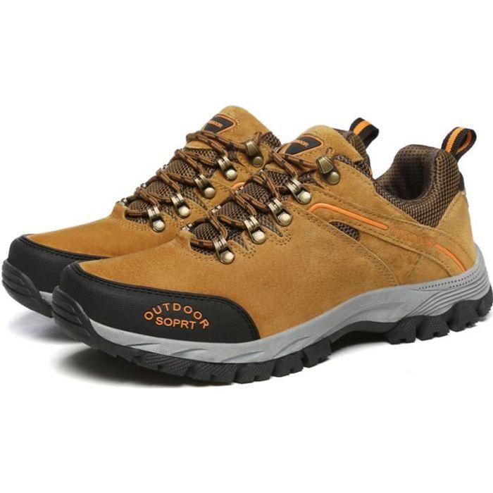 Aventurer Chaussures Randonnée Homme Imperméable Maintien Confort Respirant KIANII MARRON
