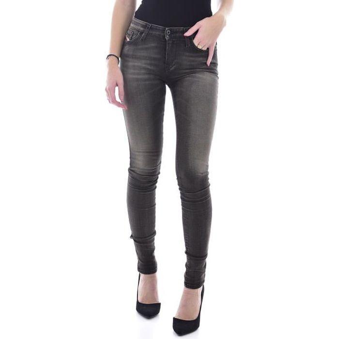 Diesel Jeans Slim Skinzee Skinny Gris 0817t