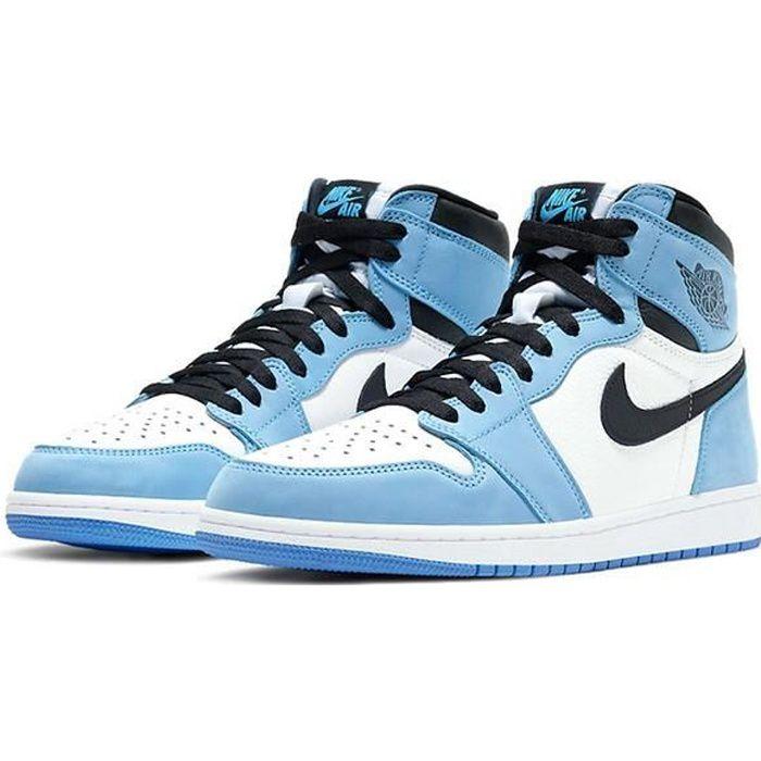 Airs Jordans 1 Retro High OG -University Blue- 555088-134 Chaussures de Running pour Homme Femme Bleu