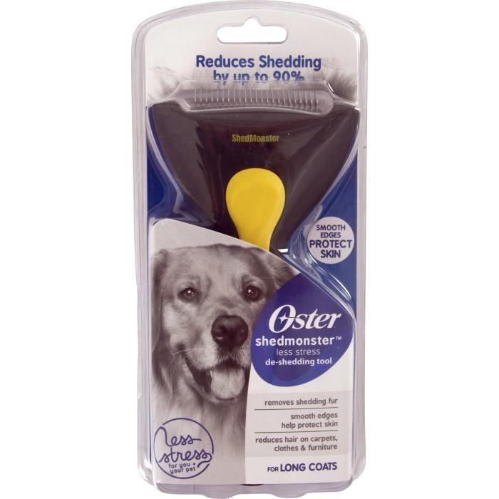 OSTER Etrille de démêlage ShedMonster™ - Poil long - 23 lames - Pour chien