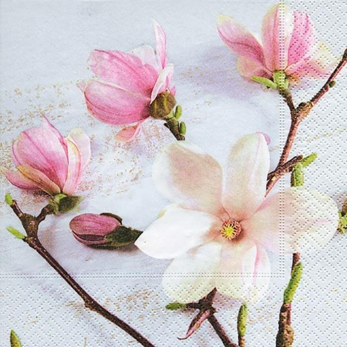 PAPER DESIGN - 20 Serviettes 33x33 cm - Magnolia