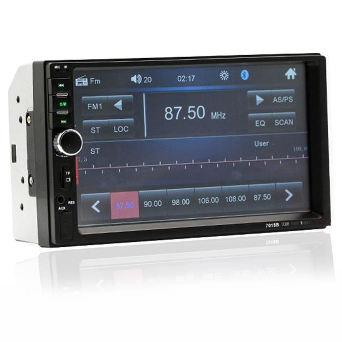 TD® 7'' 2DIN Autoradio Bluetooth Écran Tactile USB FM MP4 MP5 Lecteur Stéréo In-Dash Joueur de voiture mp5