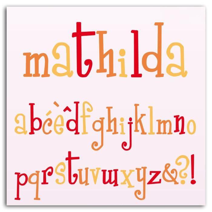 LES D'COS® DE TOGA Pack de 10 Dies Alphabet Mathilda