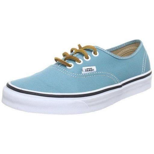 baskets mode authentic brushed (twill) bachelor bl femme vans b22vans027 45 Bleu