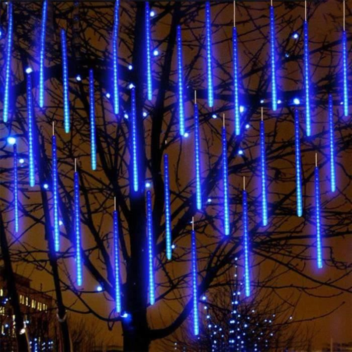 BL00941-8 Tubes 30CM 24 LED Météore Pluie Lumineuses Guirlandes Étanches pour Décor Noël Mariage Fête Soirée Maison Arbre Jardin