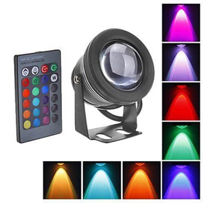 PROJECTEUR EXTÉRIEUR Projecteur Lampe Submersible Lumière RGB Etanche A