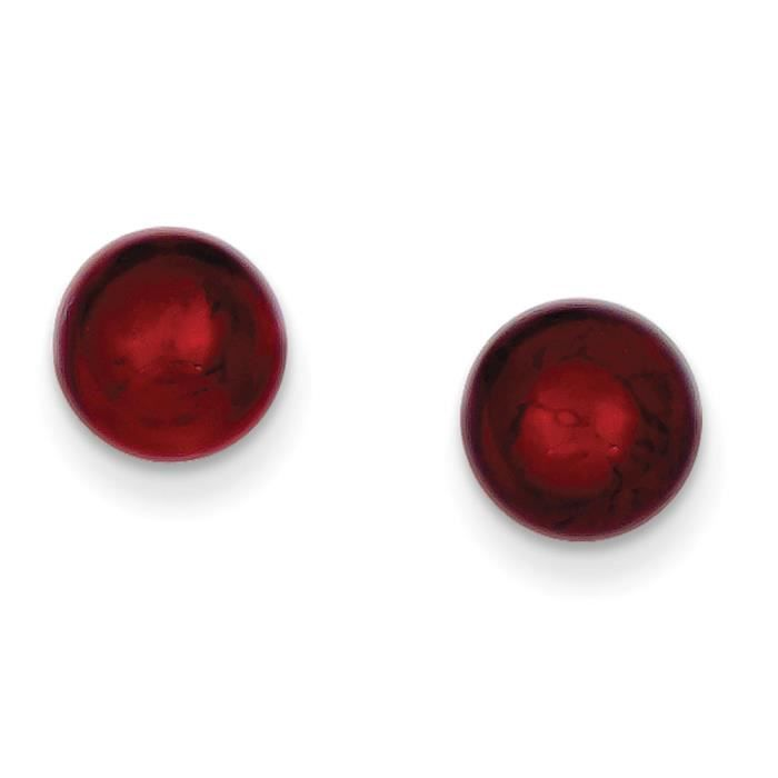 Argent Sterling italien Rouge-Boucles doreilles Murano