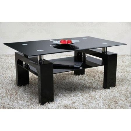 table verre trempe noir. Black Bedroom Furniture Sets. Home Design Ideas